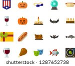color flat icon set  ... | Shutterstock .eps vector #1287652738