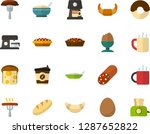 color flat icon set   sausage... | Shutterstock .eps vector #1287652822