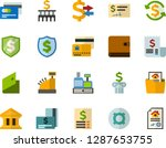 color flat icon set   credit... | Shutterstock .eps vector #1287653755