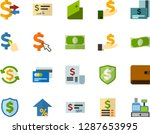 color flat icon set   credit... | Shutterstock .eps vector #1287653995