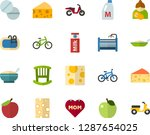 color flat icon set   mothers... | Shutterstock .eps vector #1287654025