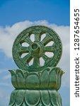 stucco work dharma wheel | Shutterstock . vector #1287654655