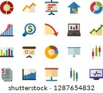 color flat icon set  ... | Shutterstock .eps vector #1287654832