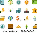 color flat icon set   bank flat ... | Shutterstock .eps vector #1287654868