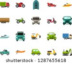 color flat icon set   passenger ... | Shutterstock .eps vector #1287655618