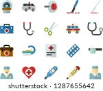 color flat icon set   medicine... | Shutterstock .eps vector #1287655642