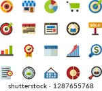 color flat icon set   site flat ... | Shutterstock .eps vector #1287655768