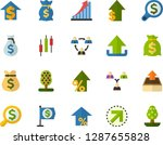 color flat icon set   upload... | Shutterstock .eps vector #1287655828