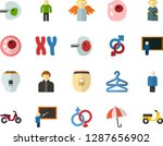 color flat icon set   holy... | Shutterstock .eps vector #1287656902