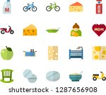 color flat icon set   mothers... | Shutterstock .eps vector #1287656908