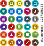 white solid icon set  toilet...   Shutterstock .eps vector #1287658195