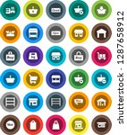 white solid icon set  office... | Shutterstock .eps vector #1287658912