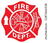 fire department emblem st... | Shutterstock .eps vector #1287666538