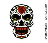 sugar skull illustration | Shutterstock .eps vector #1287667885
