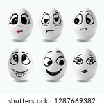 funny eggs. this is image of... | Shutterstock .eps vector #1287669382