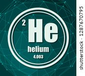 helium chemical element. sign... | Shutterstock .eps vector #1287670795