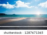 road on tropical beach | Shutterstock . vector #1287671365