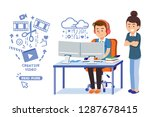 easy making a video by yourself ... | Shutterstock .eps vector #1287678415