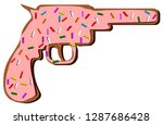 donut and cookie gun with...   Shutterstock .eps vector #1287686428