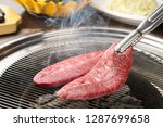 roast beef on a plate | Shutterstock . vector #1287699658