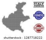 welcome combination of halftone ... | Shutterstock .eps vector #1287718222