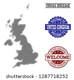 welcome composition of halftone ...   Shutterstock .eps vector #1287718252