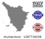 welcome combination of halftone ... | Shutterstock .eps vector #1287718258