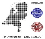 welcome collage of halftone map ... | Shutterstock .eps vector #1287722602