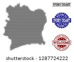 welcome composition of halftone ...   Shutterstock .eps vector #1287724222