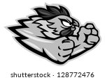 fighting rooster cartoon... | Shutterstock .eps vector #128772476