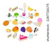 tasty pie icons set. isometric... | Shutterstock .eps vector #1287726175