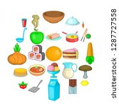 culinary ingredient icons set.... | Shutterstock .eps vector #1287727558