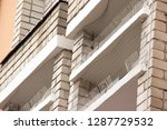 part of the facade of the...   Shutterstock . vector #1287729532