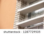 part of the facade of the...   Shutterstock . vector #1287729535
