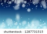 falling snow background.... | Shutterstock .eps vector #1287731515