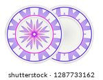 mandala circular abstract... | Shutterstock .eps vector #1287733162