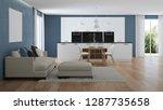 modern house interior. interior ...   Shutterstock . vector #1287735658