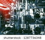 equipment  cables and piping as ... | Shutterstock . vector #1287736348