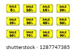 set of yellow sale icon banners ...   Shutterstock .eps vector #1287747385