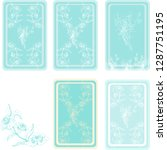 vector set with vintage blue... | Shutterstock .eps vector #1287751195