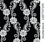 seamless vintage black and... | Shutterstock .eps vector #1287757195