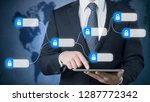 businessman using tablet pc ... | Shutterstock . vector #1287772342