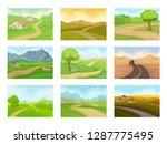 flat vector set of natural... | Shutterstock .eps vector #1287775495