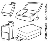vector set of suitcase | Shutterstock .eps vector #1287786352