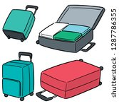 vector set of suitcase | Shutterstock .eps vector #1287786355