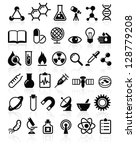 set of vector icons science and ... | Shutterstock .eps vector #128779208
