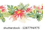 tropical flower hand drawn... | Shutterstock . vector #1287796975