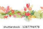 tropical flower hand drawn... | Shutterstock . vector #1287796978