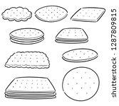 vector set of cookies and... | Shutterstock .eps vector #1287809815