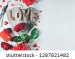 valentine's day background ... | Shutterstock . vector #1287821482
